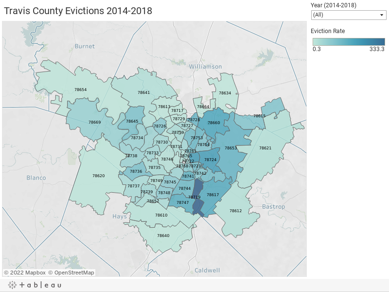Travis County Evictions 2014-2018