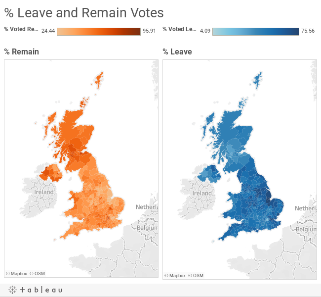 brexit the uk referendum interactive maps