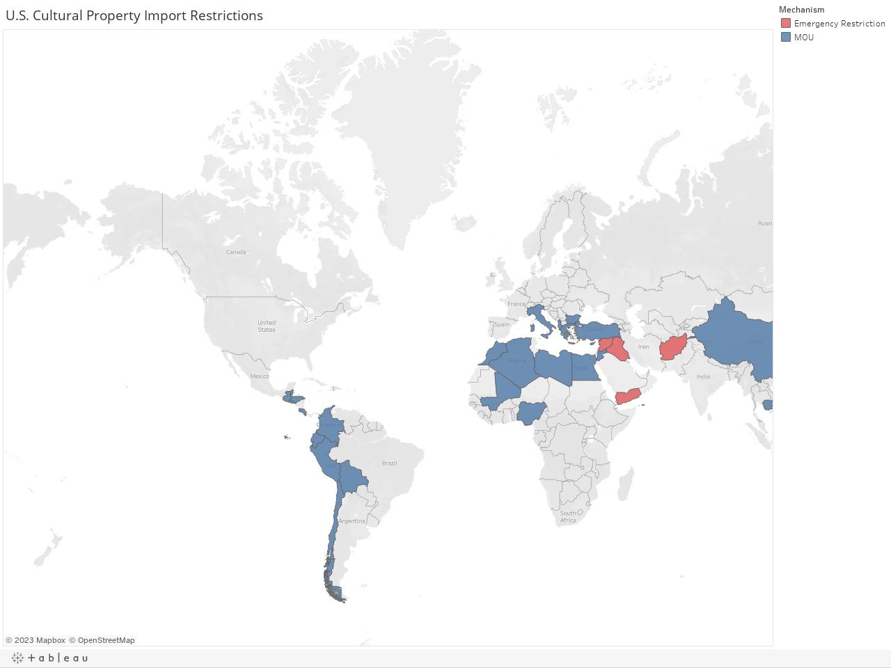 U.S. Cultural Property Import Restrictions