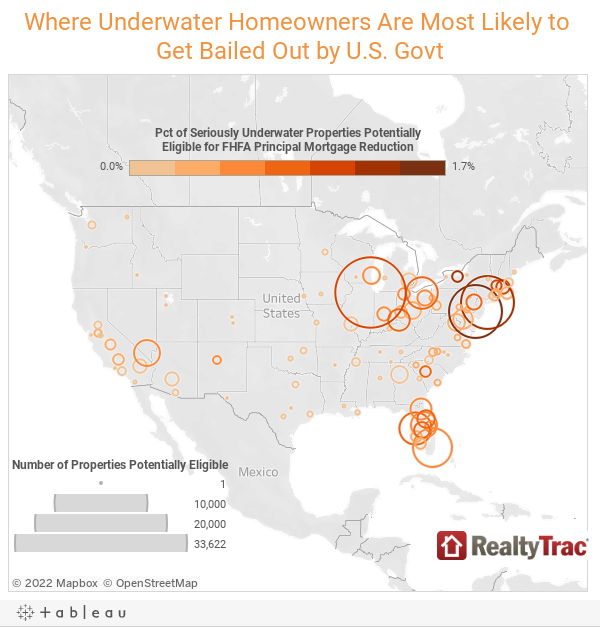 Where Underwater Homeowners Are Most Likely to Get Bailed Out by U.S. Govt