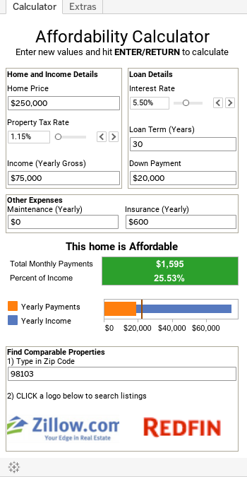 Affordability Calculator Can you afford the home that you want?