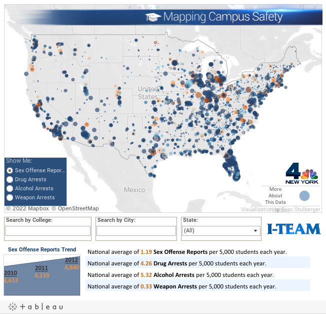 I-Team: Clery Crime Data Map