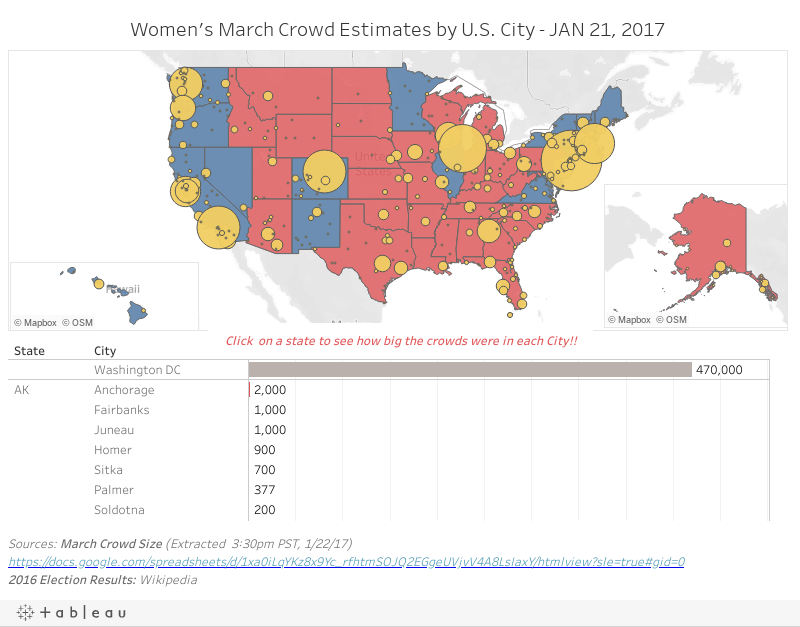 Women's March Map