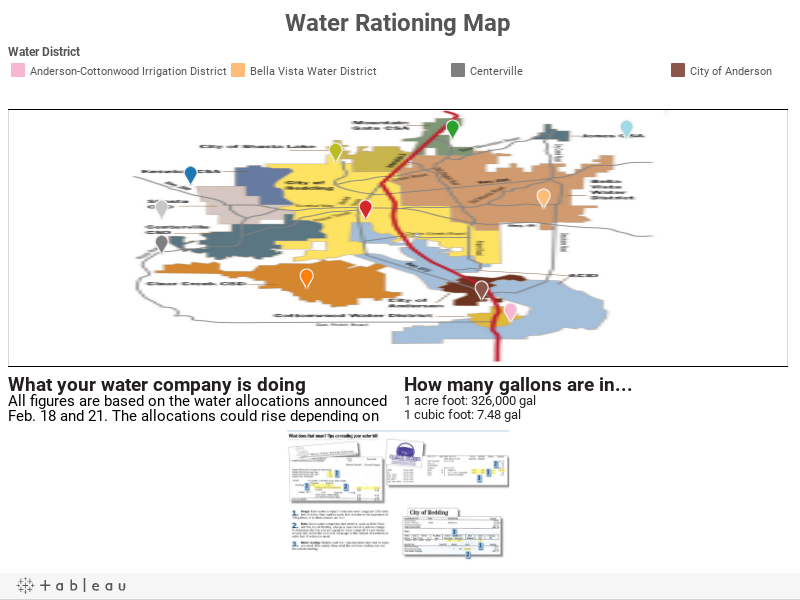 Water Rationing Map