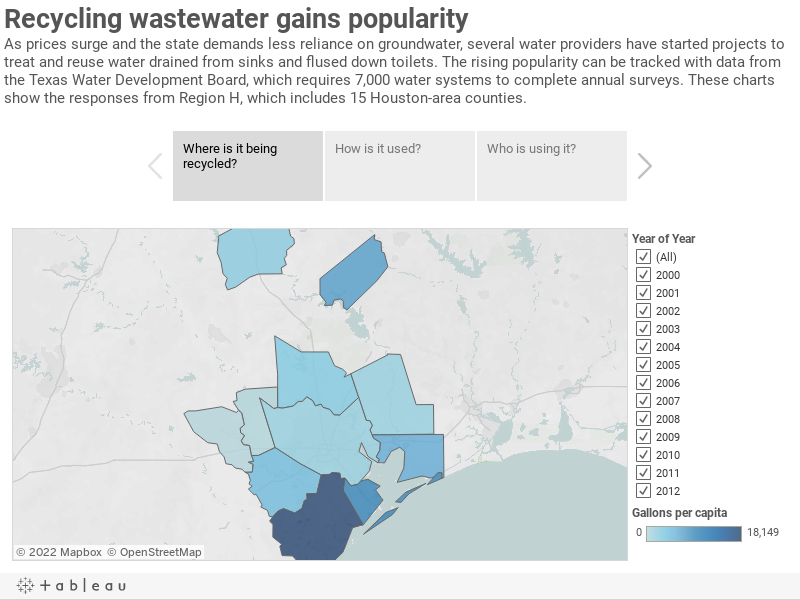 Recycling wastewater gains popularityAs prices surge and the state demands less reliance on groundwater, several water providers have started projects to treat and reuse water drained from sinks and flused down toilets. The rising popularity can be track