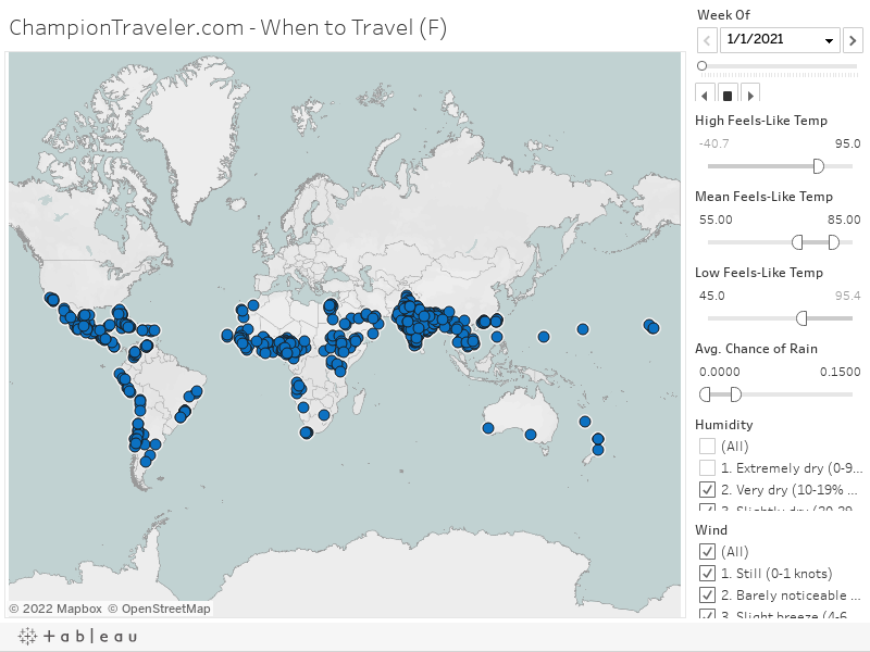 Travel Weather Map The Best Places To Visit Interactive