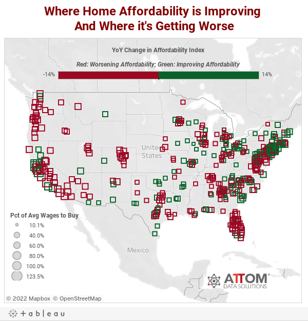 Where Home Affordability is Improving And Where it's Getting Worse