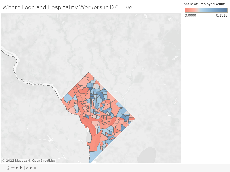 Where Food and Hospitality Workers in D.C. Live