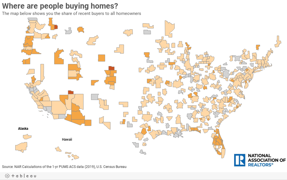Where are people buying homes?