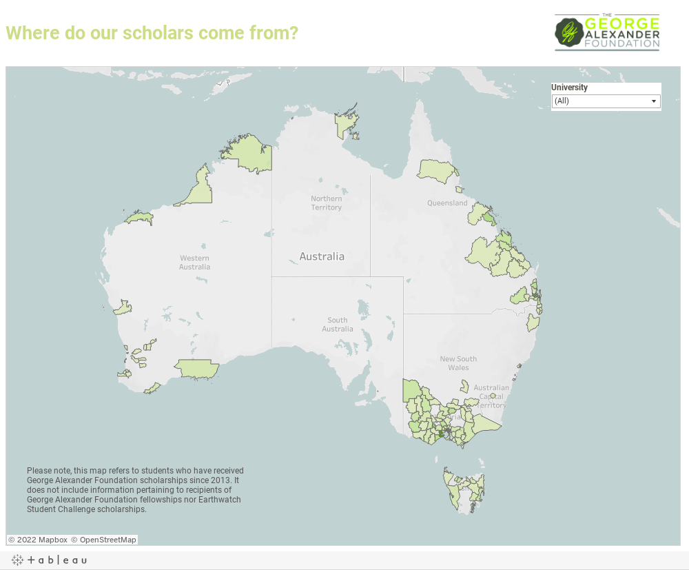 Where do our scholars come from?