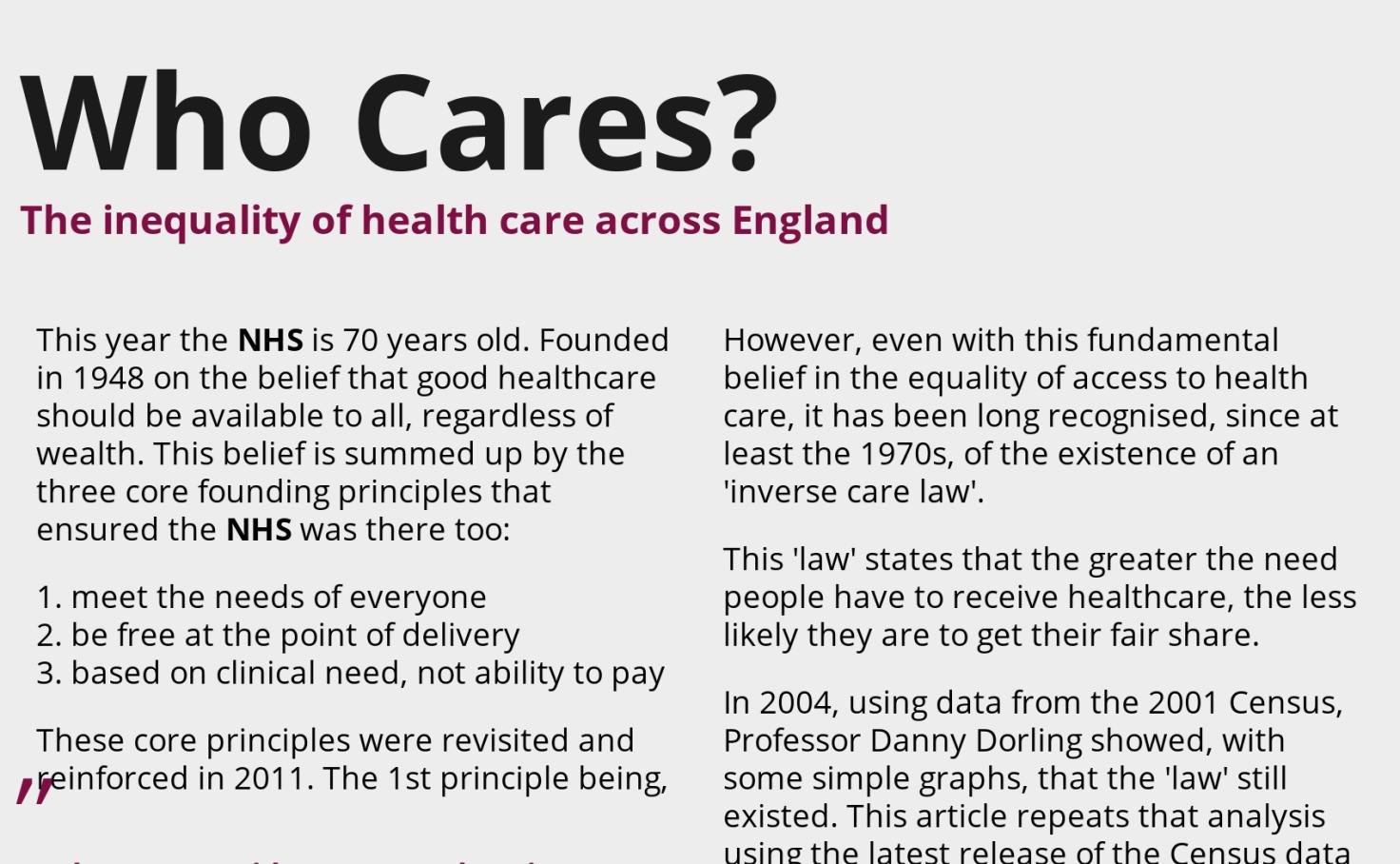 06f360e5cae Who Cares  Health inequality in England - Rob Radburn