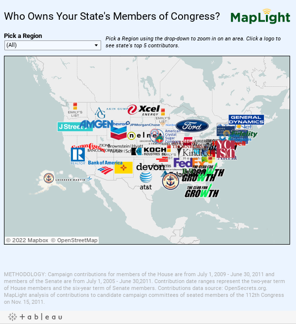 Who Owns Your State's Members of Congress?