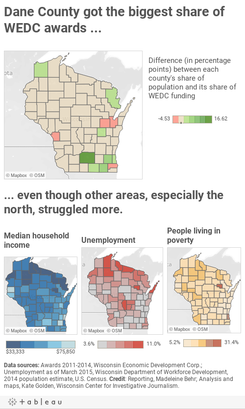 Most Northern Counties Left Behind By Gov Scott Walker S Jobs Agency Wisconsinwatch Org
