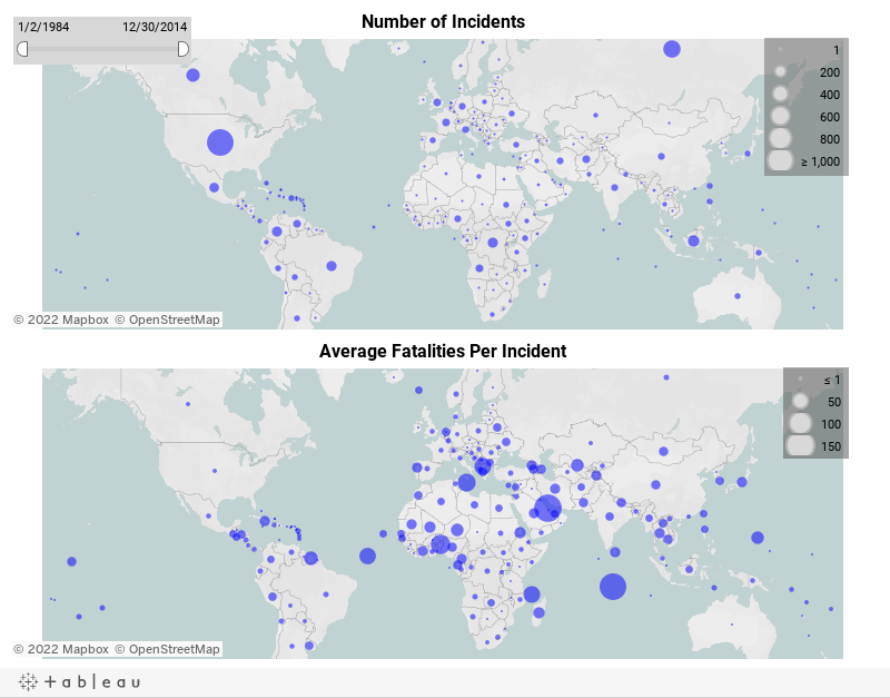Dashboard - Incidents Map