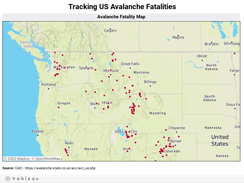 Tracking US Avalanche Fatalities