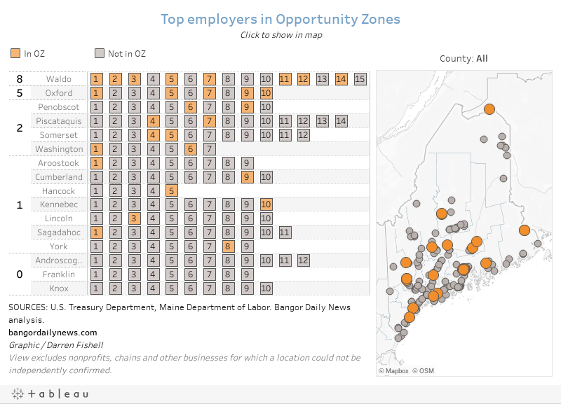 Top employers in Opportunity ZonesClick to show in map