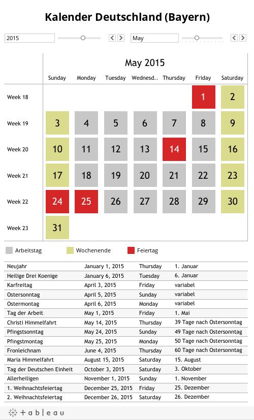 Kalender Deutschland (Bayern)