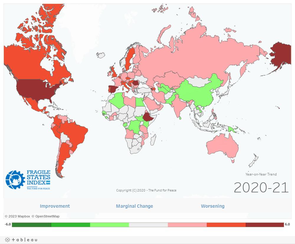 Dashboard: World Map 1Y