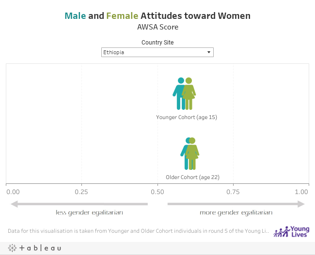 Male and Female Attitudes toward WomenAWSA Score