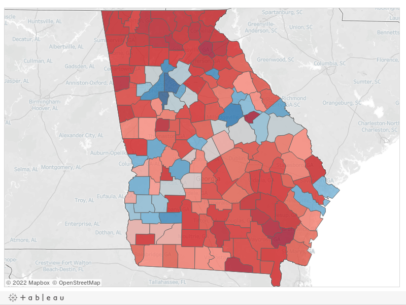 Map How Georgia Voted In 2016 Presidential Election