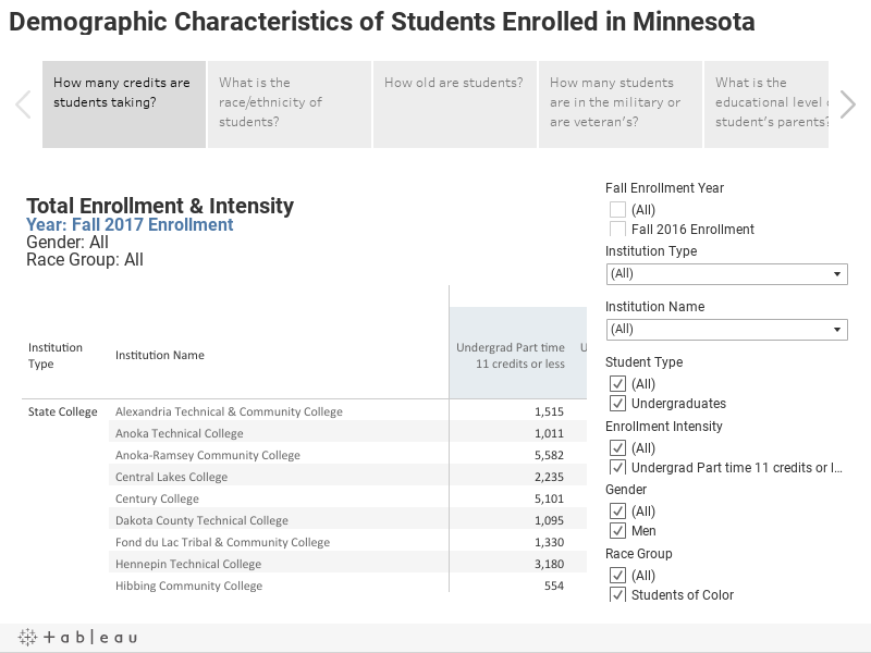 Demographic Characteristics of Students Enrolled in Minnesota