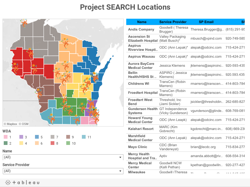 Project SEARCH Locations