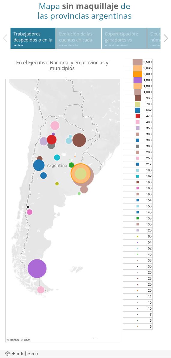 Mapa sin maquillaje de las provincias argentinas