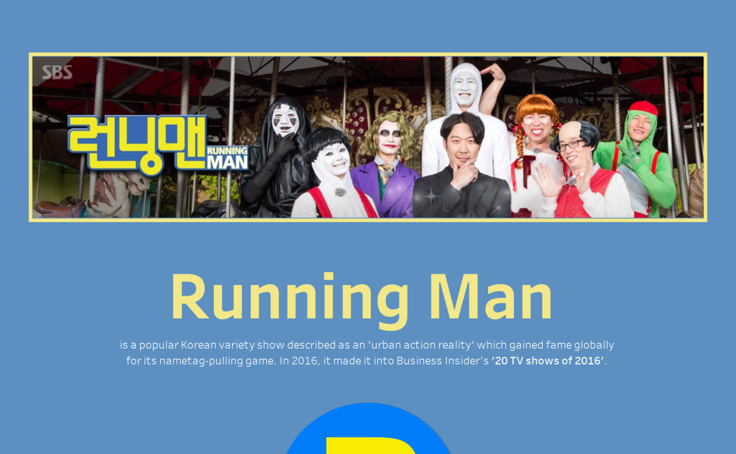 Running Man Korea Royce Ho Tableau Public