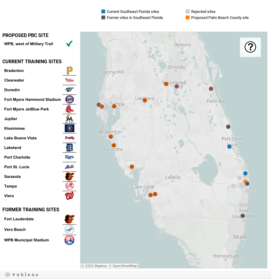 Best Spring Training Florida Map Pics Printable Map New