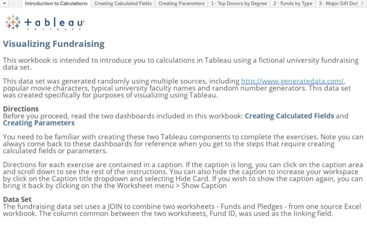 Workbook: Calculations Tutorial - Fundraising - TfT