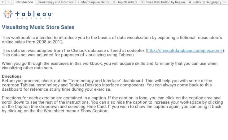 Workbook: Introduction to Tableau - Music Sales - TfT