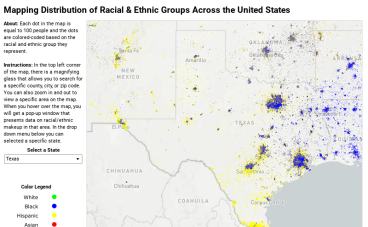 Workbook: Mapping Distribution of Racial & Ethnic Groups Across the ...