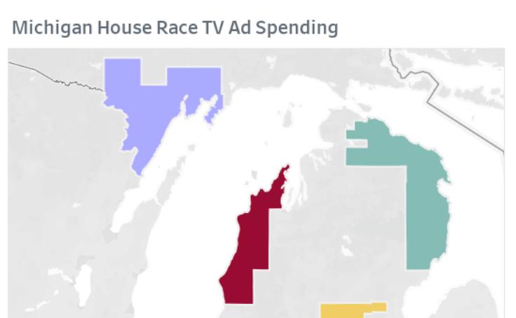 Workbook: Michigan House Race TV Ad Spending
