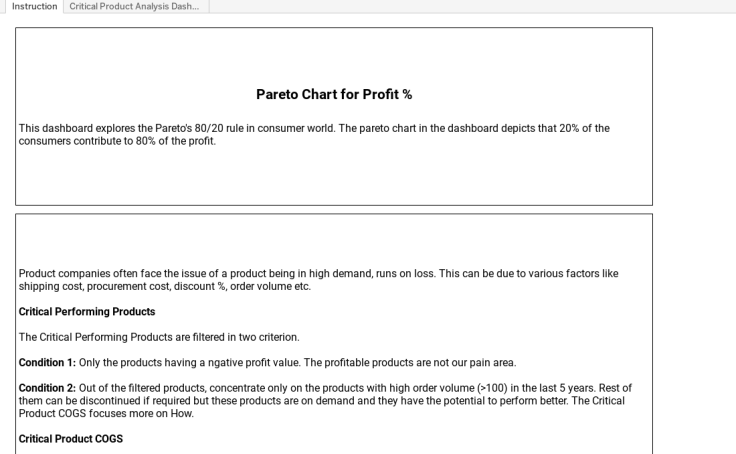 Workbook Pareto Chart And Critical Products Analysis