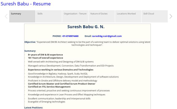 workbook suresh resume